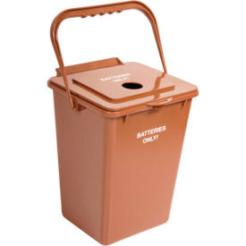 Busch Systems Battery Bin, 2-1/4 Gallon Brown - BATBIN-24BO