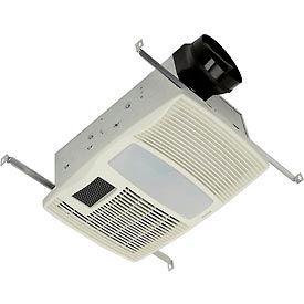 Exhaust fans bathroom broan qtx110hl ventilation fan w heater incandescent light night for Bathroom exhaust fan with heater and night light