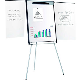 "MasterVision Magnetic Dry Erase Tripod Presentation Easel, 27""W x 40""H Board"