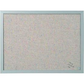 "MasterVision Fabric Corkboard 18x24"" Gray Frame"