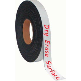 """MasterVision Magnetic Tape Roll, 1""""x 50 ft., White"""