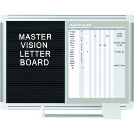 """MasterVision In-Out Magnetic Dry Erase/Letter Board, Steel/Vinyl Surface, 36""""W x 24""""H"""