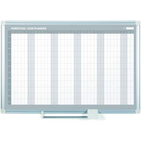 "Magnetic Calendar Whiteboard - Yearly Planner - 48""W x 36""H - Steel Surface"