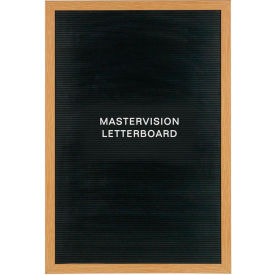 "MasterVision Vinyl Letter Board, Beech Frame, 24""W x 36""H Board"