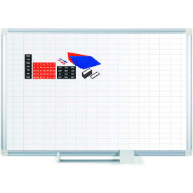 "Magnetic Planning Board Kit - 1x2 Grid -36""W x 24""H - Steel Surface"