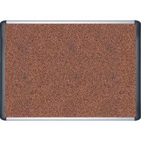 """MasterVision Techcork Board, Cork/Rubber Combination, 48""""W x 36""""H"""