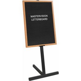 "MasterVision Letter Board Stand, Beech Frame, 36""W x 24""H Board"