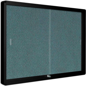 """MasterVision Fabric Enclosed Bulletin Cabinet, Sliding Doors, 48""""W x 36""""H"""