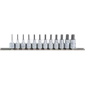 "Blackhawk HW-9412S 13 Piece 3/8"" Drive Hex Bit Socket Set, Fractional"