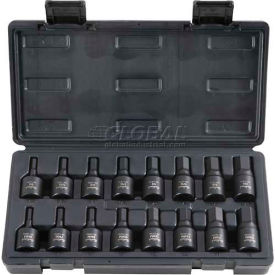 "Blackhawk UH-1216CS 1/2"" Drive 16 Piece 1/4-3/4"" & 6-19MM Hex Bit Impact Socket Set"
