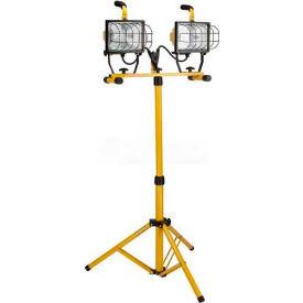 Bayco® Heavy Duty Tower Light SL-1005, 6'L Cord, 18/3 Ga, Yellow - Pkg Qty 2