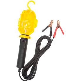 Bayco Emergency Light With Battery Clips Sl-412, 20'L Cord, 18/2 Ga, Black/Yellow Package Count 6 by
