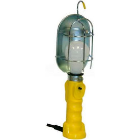 Bayco® Standard Trouble Light SL-426A, 50'L Cord, Grounded Outlet on Handle, 16/3 Ga, Yellow - Pkg Qty 6