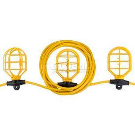 Bayco® Indoor/Outdoor Contractor Plastic String Light W/5 Lights SL-7306, 50'L Cord