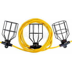 Bayco® Indoor/Outdoor Contractor Metal String Light W/5 Lights SL-7316, 50'L Cord