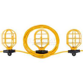 Bayco® Indoor/Outdoor Plastic String Light SL-7408, 100'L Cord, 14/2 GA, Yellow
