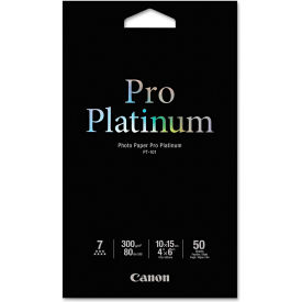 "Canon® Photo Paper Pro Platinum 2768B014, 4"" x 6"", White, 50/Pack"