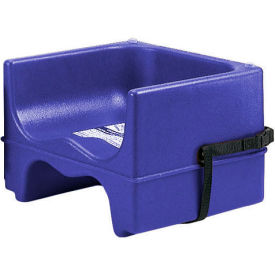Cambro 100BCS186 Booster Seat, Single Height, With Strap, Sets Of 4, Navy Blue Package... by