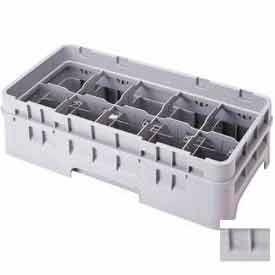 """Cambro 10HC414151 - Camrack  Cup Rack 10 Compartments 4-1/4"""" Max. Height, Soft Gray, NSF - Pkg Qty 5"""