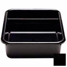 "Cambro 1621CBP110 - Cambox 2 Compartments, 15-5/8""L x 20-1/2""W x 4-7/8""H, Hi-Gloss Plastic, Black - Pkg Qty 12"