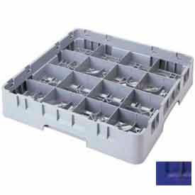 "Cambro 16S1058186 - Camrack  Glass Rack 16 Compartments 11"" Max. Height Navy Blue NSF - Pkg Qty 2"