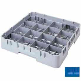 """Cambro 16S1214168 - Camrack  Glass Rack 16 Compartments 12-5/8"""" Max. Height Blue NSF - Pkg Qty 2"""