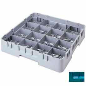 "Cambro 16S534414 - Camrack  Glass Rack 16 Compartments 6-1/8"" Max. Height Teal NSF - Pkg Qty 4"