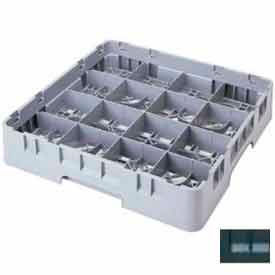 """Cambro 16S638110 - Camrack  Glass Rack 16 Compartments 6-7/8"""" Max. Height Black NSF - Pkg Qty 3"""