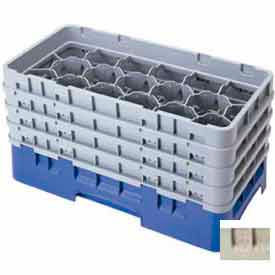 """Cambro 17HS958184 - Camrack  Glass Rack 17 Compartments 10-1/8"""" Max. Height Beige - Pkg Qty 2"""