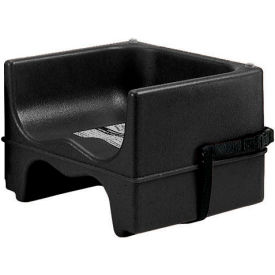 Cambro 200BCS110 Booster Seat, Dual Height, Polyethylene, w/Strap, Black Package Count 4 by