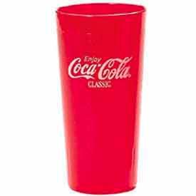 """Cambro 20CC152 - Coca-Cola Tumbler, 22 Oz., 6-1/2""""H, Clear - Pkg Qty 72"""