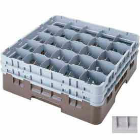 """Cambro 25S534151 - Camrack  Glass Rack Low Profile 25 Compartments 6-1/8"""" Max. Ht., Gray NSF - Pkg Qty 4"""