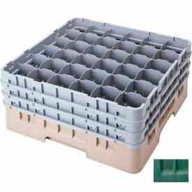 """Cambro 36S318119 - Camrack  Glass Rack 36 Compartments 3-5/8"""" Max. Height Sherwood Green NSF - Pkg Qty 5"""