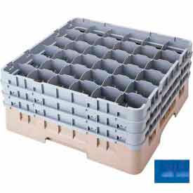 """Cambro 36S318168 - Camrack  Glass Rack 36 Compartments 3-5/8"""" Max. Height Blue NSF - Pkg Qty 5"""