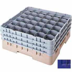 """Cambro 36S738186 - Camrack  Glass Rack Low Profile 36 Compartments 7-3/4"""" Max. Ht., Navy Blue - Pkg Qty 3"""