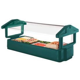 "Cambro 4FBRTT519 - Tabletop Salad Bar, 51""L x 27""H, Table Top, 4-Pan Size, Breathguard, Green, NSF"