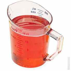Cambro 50MCCW135 Camwear Measuring Cup, 1 Pint, Clear, Polycarbonate, Handle, Dishwasher Safe Package Count 12 by