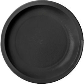 "Cambro 55CWNR110 - Plate Narrow Rim, 5 1/2"",  Black - Pkg Qty 48"