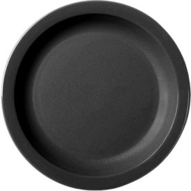 "Cambro 65CWNR110 - Plate Narrow Rim, 6 1/2"",  Black - Pkg Qty 48"