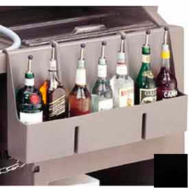 Cambro 730SR110 Speed Rail, 7-bottle, 29x6-1/2x14-5/8, w/built-in partitions, Black by