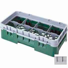 """Cambro 8HS434151 - Camrack  Glass Rack 8 Compartments 5-1/4"""" Max. Height Soft Gray - Pkg Qty 4"""