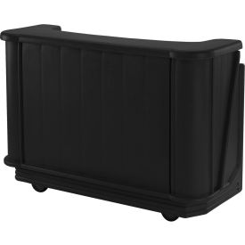 Cambro BAR650CP110 - Mid Size Partially Equipped for Soda Service, Black