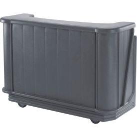 Cambro BAR650CP191 - Mid Size Partially Equipped for Soda Service, Granite Gray
