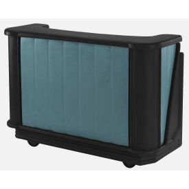 Cambro BAR650PM421 - Mid Size w/Post-mix system Bag-in-box Syrup, Granite Green w/Black Base