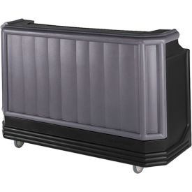 Cambro BAR730PM420 - Large Size w/Post-mix system Bag-in-box Syrup, Granite Gray w/Black Base