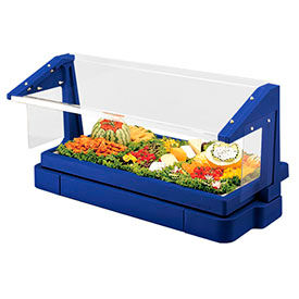 Cambro BBR720186 - Buffet Bar with Sneeze Guard 24 x 73, Navy Blue