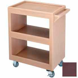 """Cambro BC225131 - Bus Cart 225 3"""" Casters (2 Fixed 2 Swivel 1 with Brake) Dark Brown"""