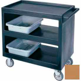 """Cambro BC2354S157 - Bus Cart 5"""" Casters (4 Swivel 1 with Brake) Coffee Beige NSF"""