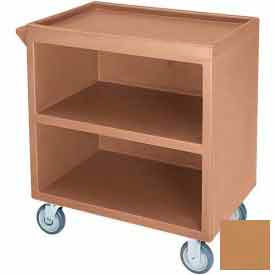 "Cambro BC330157 - Bus Cart 330 5"" Casters (2 Fixed 2 Swivel 1 with Brake) Coffee Beige NSF"