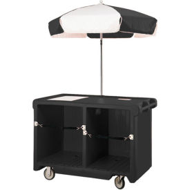 "Cambro CVC55110 - Camcruiser Vending Cart, 55-3/16""L x  31-1/4""W x 93-1/2""H, Black"